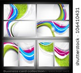 abstract business card | Shutterstock .eps vector #106410431