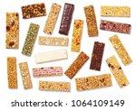 top view of various healthy... | Shutterstock . vector #1064109149
