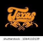 Texas. Vector Handwritten...