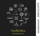 ventilation hand drawn doodle... | Shutterstock .eps vector #1064111474