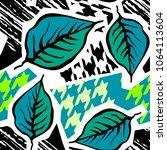seamless textile pattern print .... | Shutterstock .eps vector #1064113604