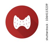 thyroid gland flat design long... | Shutterstock .eps vector #1064115239
