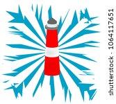 marine lighthouse vector... | Shutterstock .eps vector #1064117651