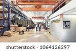 industrial factory in... | Shutterstock . vector #1064126297