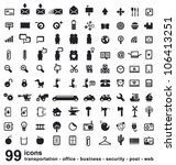 set of many icons   Shutterstock .eps vector #106413251