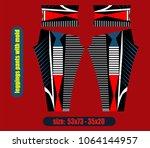 leggings pants fashion... | Shutterstock .eps vector #1064144957