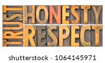 trust honesty  respect  ... | Shutterstock . vector #1064145971