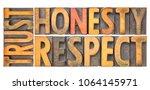 trust honesty  respect  ... | Shutterstock . vector #1064145971