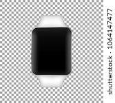 stainless silver smart watch...   Shutterstock .eps vector #1064147477