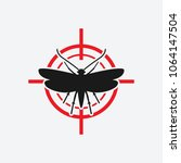 clothes moth icon red target | Shutterstock .eps vector #1064147504
