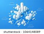 modern isometric or 3d location ... | Shutterstock .eps vector #1064148089