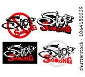 stop smoking motivation... | Shutterstock . vector #1064150339