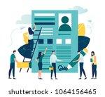 vector business illustration ... | Shutterstock .eps vector #1064156465