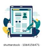 vector business illustration ... | Shutterstock .eps vector #1064156471