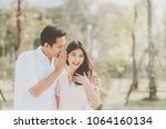 portrait of asian couple  man... | Shutterstock . vector #1064160134