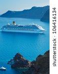 Luxury Cruise Ship  Sailing In...