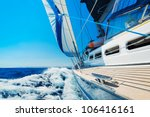 yacht  sailing boat in the sea