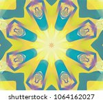 abstract illustration pastel... | Shutterstock . vector #1064162027