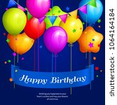 bunch of colorful birthday... | Shutterstock .eps vector #1064164184