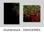 light green  redvector pattern... | Shutterstock .eps vector #1064165801