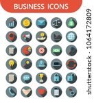 business icons vector... | Shutterstock .eps vector #1064172809