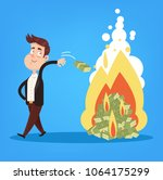 happy smiling rich millionaire... | Shutterstock .eps vector #1064175299