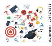 education design concept vector ... | Shutterstock .eps vector #1064176931