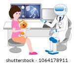 pet dog receiving treatment... | Shutterstock .eps vector #1064178911