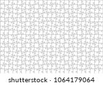 isolated puzzle pattern with... | Shutterstock .eps vector #1064179064