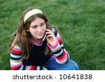 young blond girl in the park... | Shutterstock . vector #10641838
