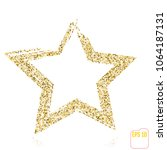 golden star vector banner. gold ... | Shutterstock .eps vector #1064187131