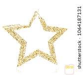 golden star vector banner. gold ... | Shutterstock .eps vector #1064187131