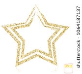 golden christmas star  gold... | Shutterstock .eps vector #1064187137