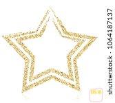 golden christmas star  gold... | Shutterstock .eps vector #1064187137