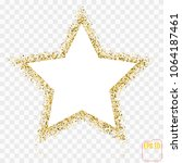 golden star vector banner. gold ... | Shutterstock .eps vector #1064187461