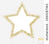 golden star vector banner. gold ... | Shutterstock .eps vector #1064187461