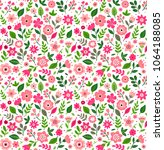 cute floral pattern in the... | Shutterstock .eps vector #1064188085
