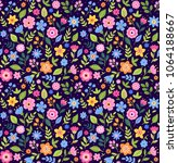 cute floral pattern in the... | Shutterstock .eps vector #1064188667