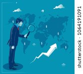 global investment. businessman... | Shutterstock .eps vector #1064191091