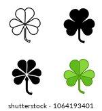 shamrock vector icon trefoil... | Shutterstock .eps vector #1064193401
