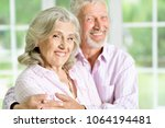 portrait of a happy senior... | Shutterstock . vector #1064194481