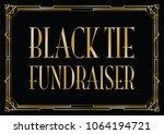 black tie fundraiser art deco... | Shutterstock .eps vector #1064194721