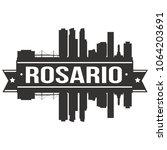 rosario argentina skyline... | Shutterstock .eps vector #1064203691