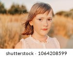 close up portrait of sweet... | Shutterstock . vector #1064208599