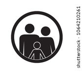 family icon. parents and kid.... | Shutterstock .eps vector #1064210261