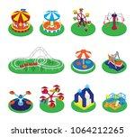 carousel vector merry go round... | Shutterstock .eps vector #1064212265