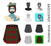 country scotland cartoon black... | Shutterstock .eps vector #1064213249