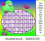 dinosaur word  search puzzle. | Shutterstock . vector #10642135