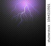 lightning and thunder storm....   Shutterstock .eps vector #1064213501