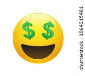 vector emoji yellow smiley face ... | Shutterstock .eps vector #1064215481